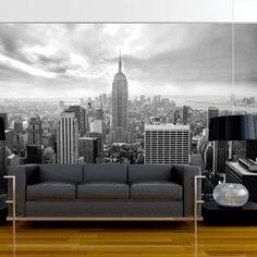 Fotomural decorativo de New York en blanco y negro - http://vinilos.info/producto/fotomural-decorativo-de-new-york-en-blanco-y-negro/ Fotomural de alta calidad. Foto en calidad HD Fácil de instalar #Dormitorio, #Oficina, #Salón #decoracion