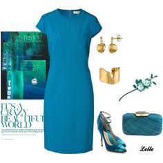 """EMILIO PUCCI Stretch Wool Sheath Dress"" by lellelelle on Polyvore"