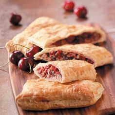 Easy Cherry Strudels Recipe..making this for Bailey's German Class Oktoberfest