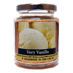 Very Vanilla Wood Wick Candle, by Candeo Candle, 8 oz size Wood Wick Candles, Soy Candles, Candle Jars, Soy Wax Melts, Fragrance Oil, Glass Jars, Tea Lights, Wicked, Vanilla