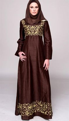 Today we see some beautiful and unique hijab dresses which makes women look extremely graceful. Modest Dresses, Modest Outfits, Modest Fashion, Hijab Fashion, Modest Wear, Long Dresses, Fashion Wear, Muslim Women Fashion, Islamic Fashion