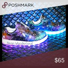Spotted while shopping on Poshmark: Light up sneakers in galaxy print! #poshmark #fashion #shopping #style #Shoes