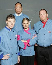 the first four chefs to be nominated iron chef on the american version of the tv show Old Tv Shows, Movies And Tv Shows, Super Cook, Favorite Tv Shows, Favorite Things, American Version, I Chef, Best Chef, Food Shows