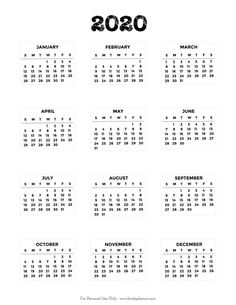 Use this set of Free Printable 2020 Bullet Journal Mini Calendars to easily organize and decorate your bullet journal or planner: weekly spread, monthly dashboard, future log. Bullet Journal Monthly Calendar, Bullet Journal Printables, Bullet Journal Ideas Pages, Monthly Planner, Bullet Journal Inspiration, Journal Pages, Journal Layout, Calendar Stickers, Kids Calendar