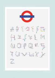 Typography & lettering / The London Underground Modular Typeface on Behance Typography Prints, Graphic Design Typography, Transport Map, London Transport, Public Transport, London Underground Tube Map, Underground Tattoo, Script Lettering, Planer