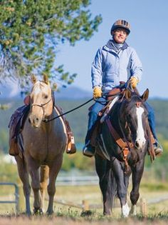 Learn how to safely pony a second horse to help introduce a new horse to a trail, lead a pack horse, or assist a young rider.