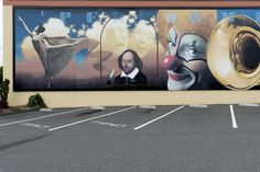 Section of the Performing Arts mural by Randy Spicer featuring, among others, playwright William Shakespeare. The mural is part of the Arkley Center for the Performing Arts mural project in Eureka, California. Photo, 2012, by Carol M. Highsmith. The Jon B. Lovelace Collection of California Photographs in Carol M. Highsmith's America, Library of Congress Prints and Photographs Division.