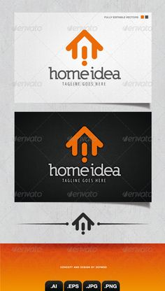 Home Idea Logo  #GraphicRiver         This bold and esay to use logo is ideal for any project where's the house is the subject. Very iconic, this logo is full vectors so he can be resize without problem. The color can be changed too. Fonts used are in a download file in the package.  	 Files provided : .ai, .eps, .jpg, .png (transparent)     Created: 2March13 GraphicsFilesIncluded: TransparentPNG #JPGImage #VectorEPS #AIIllustrator Layered: No MinimumAdobeCSVersion: CS Resolution: Resizable…