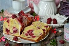 łatwe ciasto z malinami Polish Recipes, Polish Food, French Toast, Spices, Food And Drink, Pudding, Sweets, Sugar, Cooking
