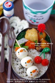 Chick Brothers Bento - Food - Serving Food to Children - Kawaii Bento, Cute Bento, Cute Food, Good Food, Bento Box Lunch For Kids, Sweet Dumplings, Bento Recipes, Bento Ideas, Perfect Food