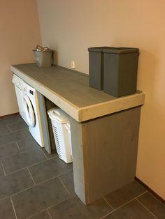 Wasmachine ombouw @Simone van Zandvoort Barbacoa, Laundry Room, Living Room Designs, Pantry, Kitchen Decor, Sweet Home, Garage, Home And Garden, Organization
