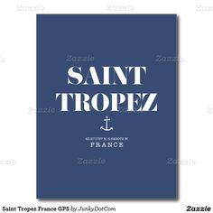 Saint Tropez France GPS Postcard - Feb 2