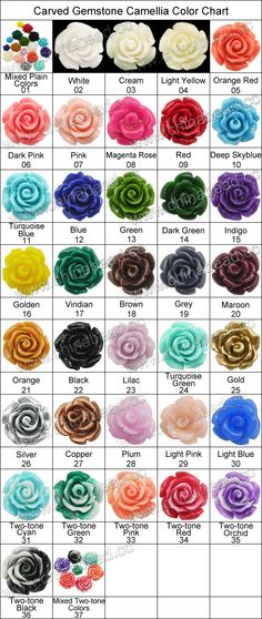Gemstone Beads, Carved camellia, Mixed plain colors, Approx 30x13mm, Hole: Approx 1.2mm, 100pcs per bag, Sold by bags