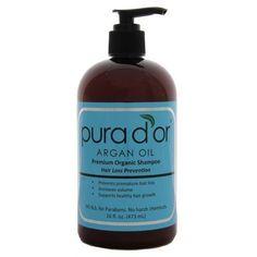 Pura d'or Hair Loss Prevention Premium Organic Shampoo, Brown and Blue,Pur-9454 #Pura'd