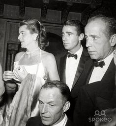 Actress Angie Dickinson and actor Peter Lawford attend ...