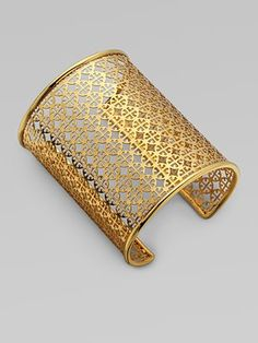 Tory Burch Logo Cuff Bracelet - love the design and that the logo is so small, you can barely tell what it is.