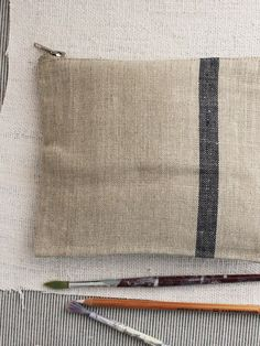 fog linen wallet available from The Linen Garden department store. Fog Linen, Pouch, Wallet, Department Store, Navy Stripes, Natural Linen, Handmade Bags, Armoire, Reusable Tote Bags