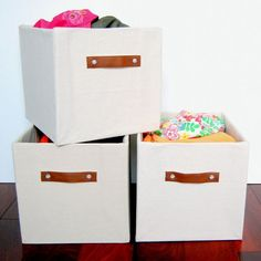 Are you looking for storage bins but just can't find the perfect size? Here's a great CHEAP way to make them all on your own!