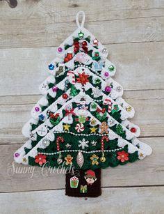 Christmas Tree Crocheted Christmas Tree Christmas by SunnyCrochets Lace Christmas Tree, Crochet Christmas Decorations, Handmade Christmas Tree, Christmas Tree Pattern, Christmas Tree Crafts, Felt Christmas Ornaments, Etsy Christmas, Crochet Tree, Crochet Flowers
