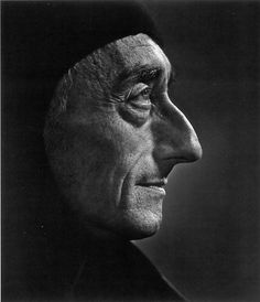 Portrait of the famed French explorer, innovator, and ecologist Jacques Cousteau. This particular portrait reminds me of the Medici family, as they are depicted in their portrait paintings.