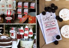 Vintage Milk & Cookies 3rd Birthday Party - Kara's Party Ideas - The Place for All Things Party