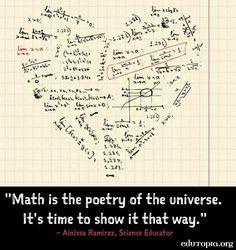 Math quote via www.Edutopia.org                                                                                                                                                      More