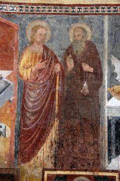 Bergamo, Basilica di S. Maria Maggiore - San Giacomo Maggiore e Sant'Antonio Abate - ambito lombardo - affresco - 1340-1360