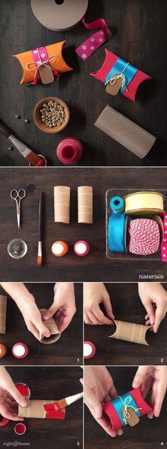 ultimate gift wrapping guide Toilet paper roll gift boxes for small gifts: Students can write notes to their families and stick inside.Toilet paper roll gift boxes for small gifts: Students can write notes to their families and stick inside. Toilet Paper Roll Crafts, Paper Crafts, Toilet Paper Tubes, Craft Gifts, Diy Gifts, Navidad Diy, 242, Gift Wrapping, Wrapping Ideas