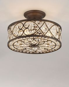 Shop Woven Crystal Semi-Flush Ceiling Fixture at Horchow, where you'll find new lower shipping on hundreds of home furnishings and gifts. Ceiling Light Fixtures, Home Furnishings, Ceiling Lights, Bedroom Lighting, Fixtures, Ceiling Fixtures, Light Fixtures, Home Lighting, Chandelier