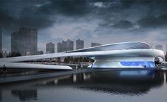 Futuristički pešački most u Kini - Građevinarstvo