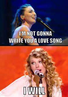 How do you write songs like Taylor Swift? I need some help here!!!!!!!!!!!!!?