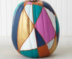 The 8 Coolest Decorative Pumpkins for Fall: DIY Stained Glass Pumpkin