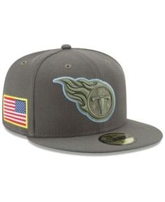 New Era Tennessee Titans Salute To Service 59FIFTY Fitted Cap - Brown 7 1/4