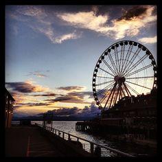 The Seattle Great Wheel in Seattle, WA