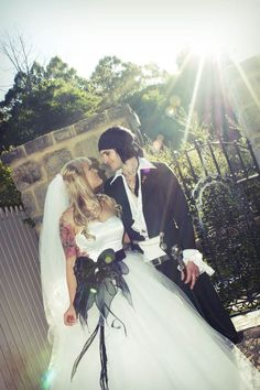 A Black & White Rocker Wedding: Bodie & Beck, plus this dress is awesome.