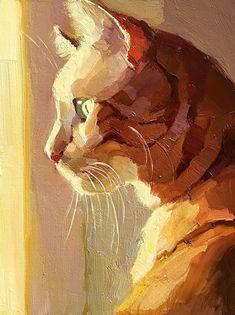 Daily Paintworks - - Original Fine Art for Sale - © Katya Minkina Watercolor Cat, Art Sketchbook, Fine Art Gallery, Animal Paintings, Dog Art, Painting & Drawing, Horse Oil Painting, Gouache Painting, Painting Inspiration
