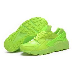 Outlet B76UI Women\u0026#39;s Nike Air Huarache Sneakers Flurorescent Green... ? liked on Polyvore featuring shoes, sneakers, green sneakers, nike sneakers, ...
