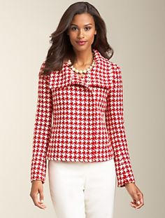 Red Houndstooth Coat