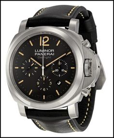 www.graciouswatch.com   most expensive watches...Make each day extra special with a taste of sophistication with the quintessential combination of style and performance. This Panerai Men's PAM00356 Luminor Contemporary Chronograph Watch comes in combination of black, silver, and beige.