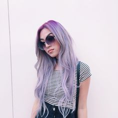 Lilac purple & pastel. #hair #hairstyle #trend #pastel
