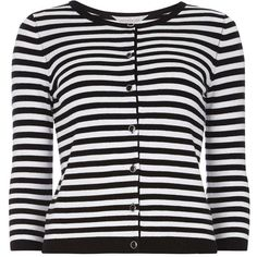 Dorothy Perkins Petite stripe cardigan ($22) ❤ liked on Polyvore featuring tops, cardigans, black, petite, striped top, dorothy perkins, stripe cardigan, petite cardigan and stripe top