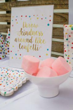Confetti + Polka Dot Madness themed birthday party via Kara's Party Ideas | KarasPartyIdeas.com (50)