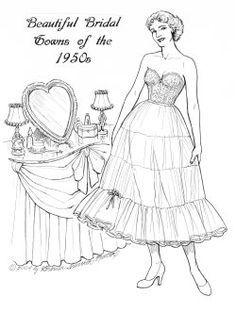 album archive paper dolls to color pinterest album and dolls Victorian Lace Wedding Gown
