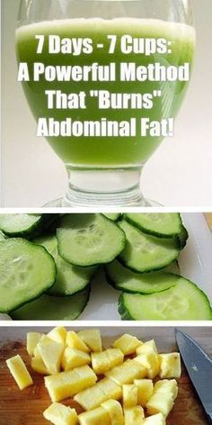 """7 Days – 7 Cups: A Powerful Method That """"Burns"""" Abdominal Fat!"""