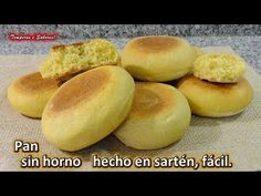 Pan delicioso. Sin horno, hecho en sartén. ¡Muy fácil! Pan Dulce, Pan Bread, Bread Baking, Lebanese Recipes, Mexican Food Recipes, Pork Belly Slices, Ultimate Grilled Cheese, Quirky Cooking, Homemade Donuts