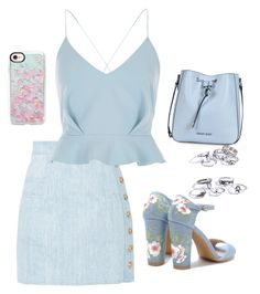 """Sky blue"" by hiind-stark on Polyvore featuring mode, Balmain, River Island, Armani Jeans et Casetify"