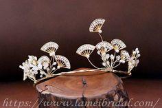 Forest Princess wedding HeadbandJapanese pine Floral Bridal Tocados 79706f2b1cd3