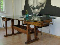 Esstische - Einstige Hobelbank als Esstisch mit Charakter - ein Designerstück von Struktur-im-Raum bei DaWanda