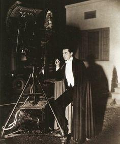 Bela Lugosi on the set