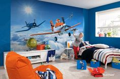FOTOTAPETE Kinderzimmer Tapete Photomural Planes above the clouds